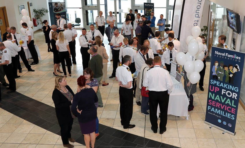 NFF LAUNCH NEW BRANDING AND STRATEGY The Naval Families Federation (NFF) launched their new branding and strategy today, 20th May 2016, in the lower atrium of NCHQ. The First Sea Lord gave an opening address along with the Director of NFF, Anna Wright. The Armed Forces Minister, Penny Mordaunt MP, was also in attendance. Image: L(Phot) Paul Hall