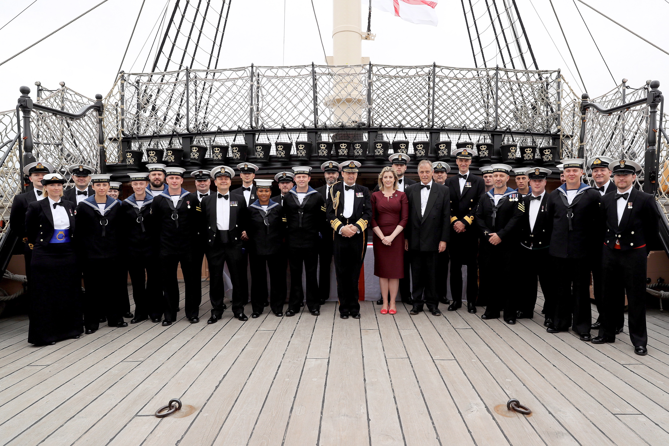 "Star sailors from the Royal Navy's Portsmouth flotilla have been rewarded for outstanding achievements by the Armed Forces Minister.  In her last day in office Penny Mordaunt presented 29 awards to personnel who have gone the extra mile for their ship or unit during the past 12 months. The ceremony on Friday (July 15) was held on board HMS Victory and was followed by a dinner at HMS Nelson.  Two recipients of the award are based on the 65,000-tonne giant aircraft carrier HMS Queen Elizabeth, currently in build at Rosyth. Chief Petty Officer Graeme Duncan was recognised for his efforts in working with industry to ensure that the ship's fresh water system, galley and laundry were ready for the ship's company to move on board.  Medical Assistant Louise Whalley was rewarded for her key role in introducing and managing the ship's first aid and medical training plans and for tailoring effective bespoke training for different departments. Commander Portsmouth Flotilla, Commodore Peter Sparkes said: ""In a challenging year when the Portsmouth Flotilla has scarcely been busier, it is really important that we recognise some of the extraordinary individual efforts of our Sailors, which contribute so powerfully to our collective successes.    Consent Held at FRPU(E)"