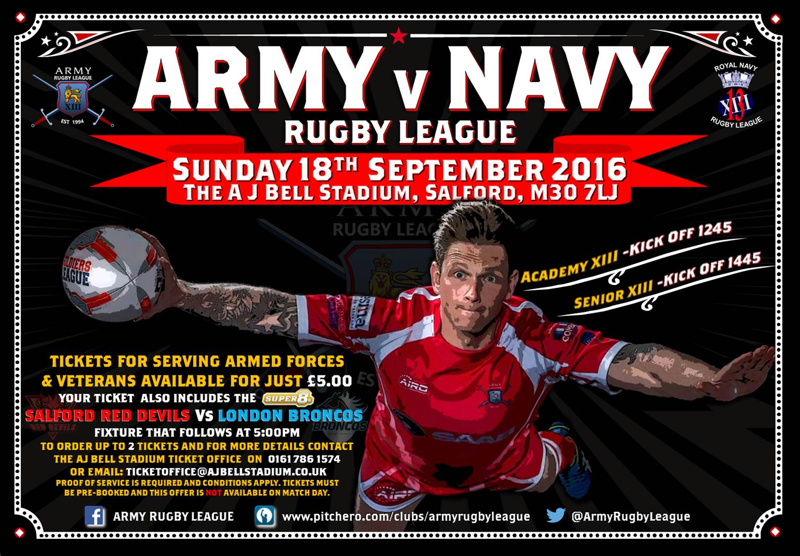 Army v Navy Rugby League game