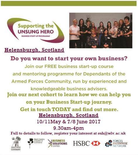 Supporting the Unsung Hero Scotland event May 2017