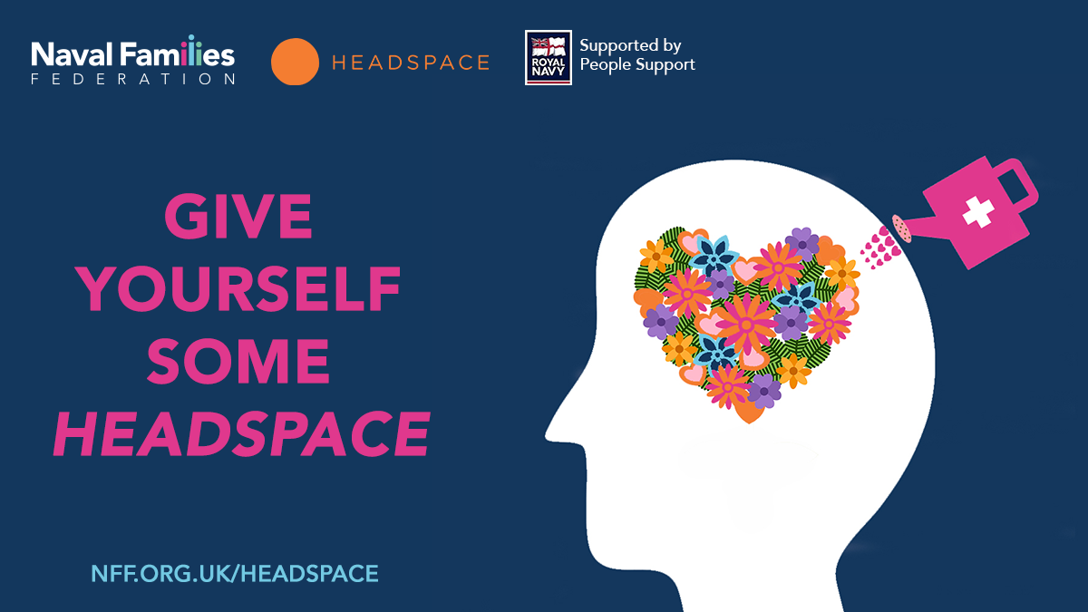Headspace poster with title 'Give yourself some Headspace' and partners logos.