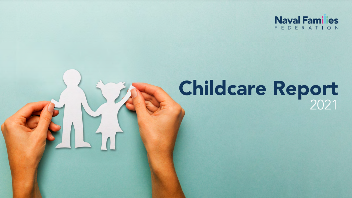 Front cover of NFF Childcare Report 2021